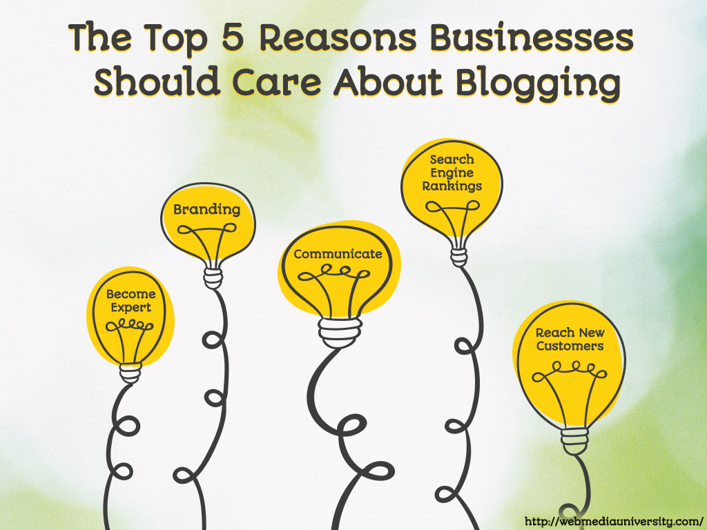 The Top 5 Reasons Businesses Should Care About Blogging-blog